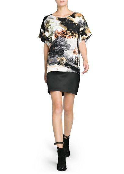 MANGO - LANDSCAPE PRINT OVERSIZE DRESS #FW13