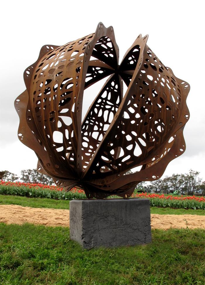 Lump Sculpture Studio specializing in Corten Steel
