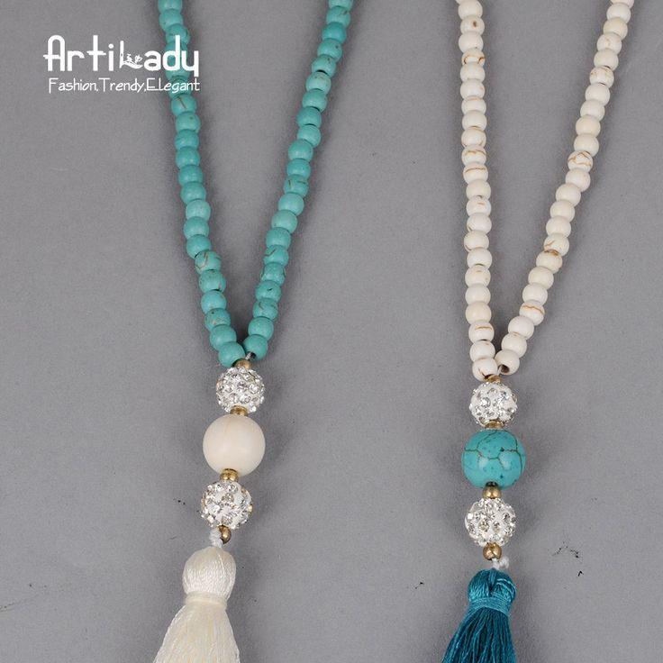 Aliexpress.com: Comprar Artilady cuentas de turquesa collar de la joyería india de la vendimia cadena larga collar de la borla para las mujeres joyería de la boda de collar de la joyería fiable proveedores en ArtiLady Jewelry (Stylish Designer Brand)