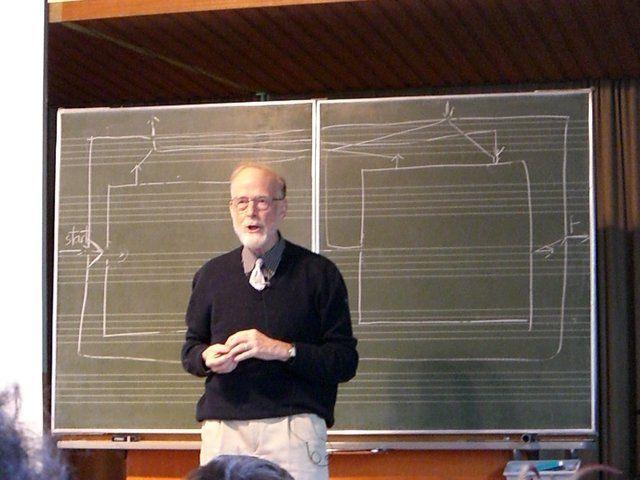 Advice for Ph.D. students from Tony Hoare