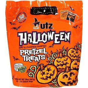 Utz Halloween Bat & Pumpkin Shaped Treats Pretzels. Sam's Club and Wal-Mart have these Utz pretzels at Halloween and Christmas time. We stock up then. It's the only time I see them. Low sal.