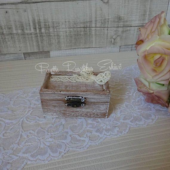 Wedding Ring Bearer Box Wedding Ring Box Rustic Ring Box