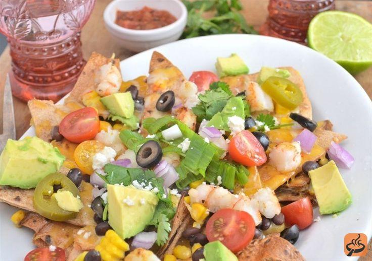 Shrimp Nachos recipe   Appetizers   Pinterest   Shrimp nachos, Shrimp ...