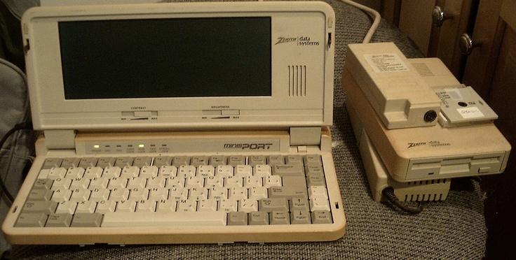 Vintage 1989 Zenith Minisport Zl 2 Heathkit 8088 Laptop