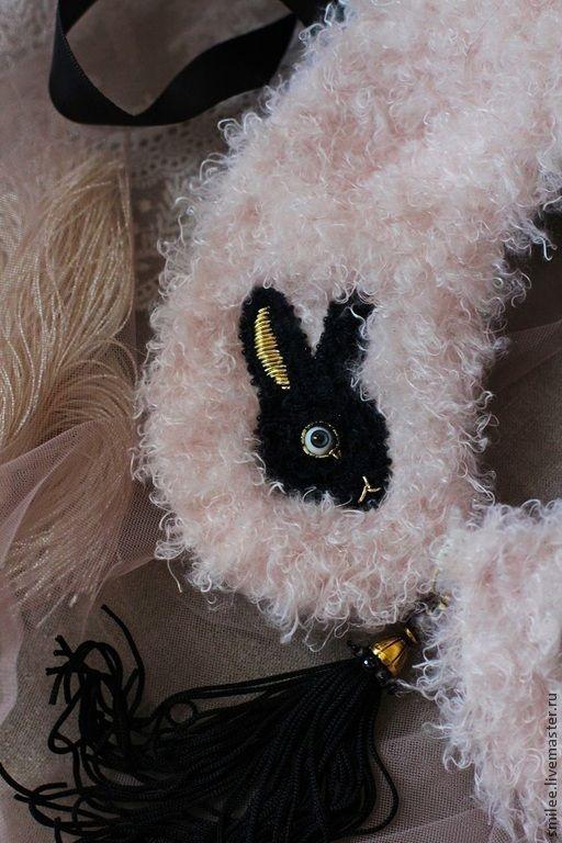 """Купить Воротничок колье """"SKAZKA ....black and pink"""" - бледно-розовый, украшение бохо"""