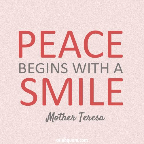 smile quotes mother teresa - Google Search