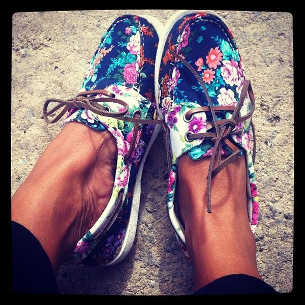 Floral sperrys