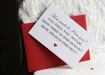 How much do I love you? Mini card <3
