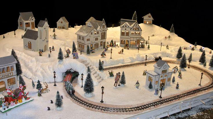 Chez Marius - Village miniature de Noël fabriqué par l'IMPro de la Côte des Vignes de Doullens