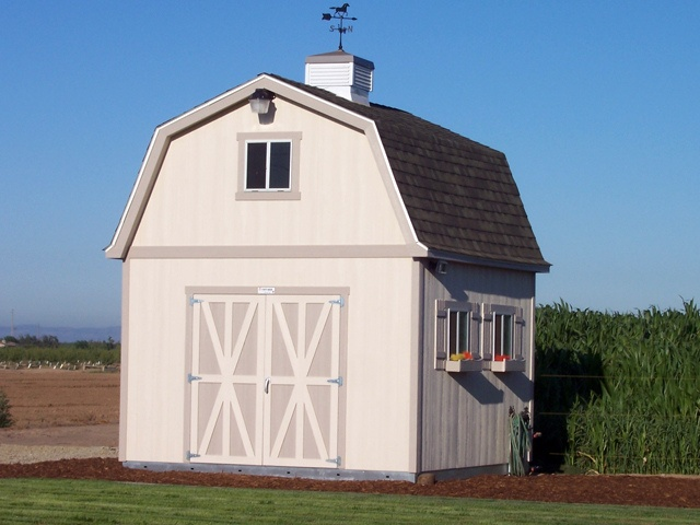 Premier PRO Tall Barn (12x16) By Tuff Shed With Shutters, Flower Boxes,