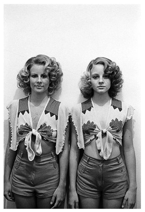 Jodie Foster and her sister Connie who doubled for her during the more explicit scenes in Taxi Driver.