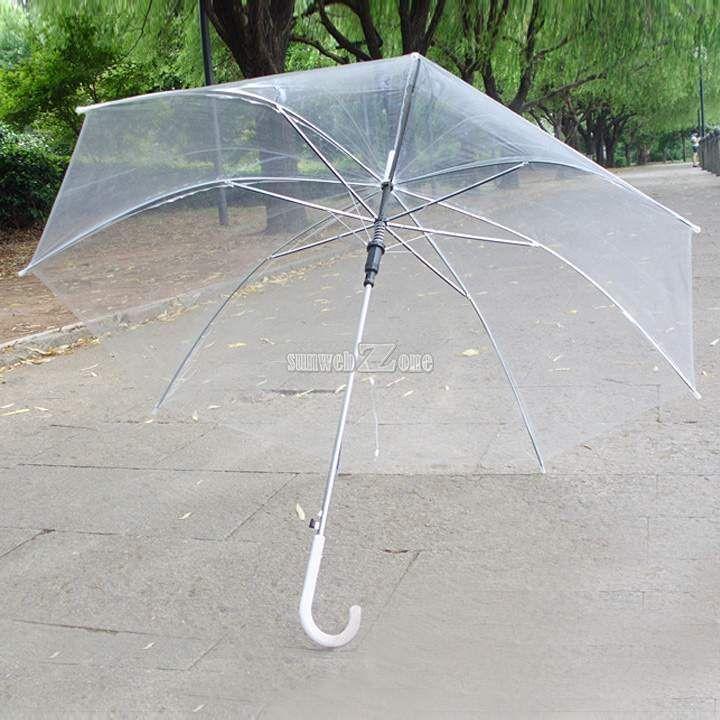 Clear Transparent Rain Umbrella Parasol PVC Dome for Wedding Party Favor S0BZ