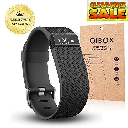 #QIBOX Ultra Clear HD Screen Protectors QIBOX Ultra Clear HD screen protectors for Fitbit Charge HR are designed from a unique shatterproof film that is develop...
