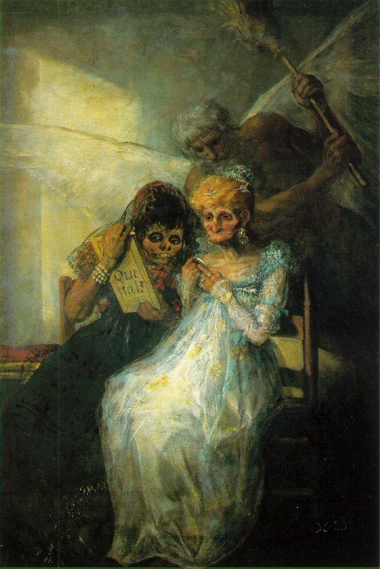 Francisco de Goya, Les Vieilles, 1808-1812, Lille, Palais des Beaux-Arts
