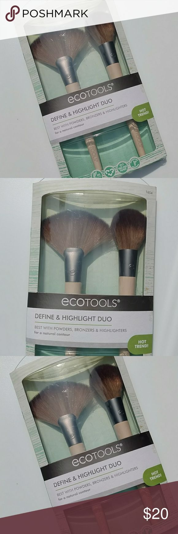 Define and highlight duo ecotools Define and highlight duo by ecotools. New with box never tested or used. No trades. Fast shipping Sephora Makeup Brushes & Tools