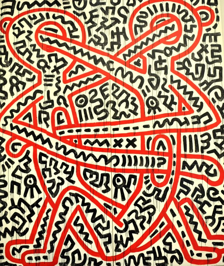 Keith Haring~how we hurt each other, in the heart & in the head....