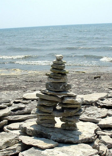 An inukshuk found at Stone Road Alvar.