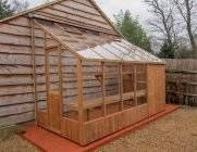 The 6ft x 20ft Swallow Dove Lean to is the ultimate timber lean to. It's a practical size, looks superb and is installed for FREE. 3mm Toughened glass is standard on all Swallow wooden Greenhouses and is held in special grooves within the frame and then sealed in place with quality silicone. Inward opening doors with mortise locks are also standard. Each roof vent is supplied with a Bayliss XL autovent to automatically open the roof vent when you're not around to stop over heating. You also…