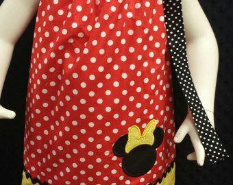 Vestido de minnie mouse funda de almohada, chicas Vestido de minnie, funda de almohada vestido, vestido de Disney, vestido de la princesa
