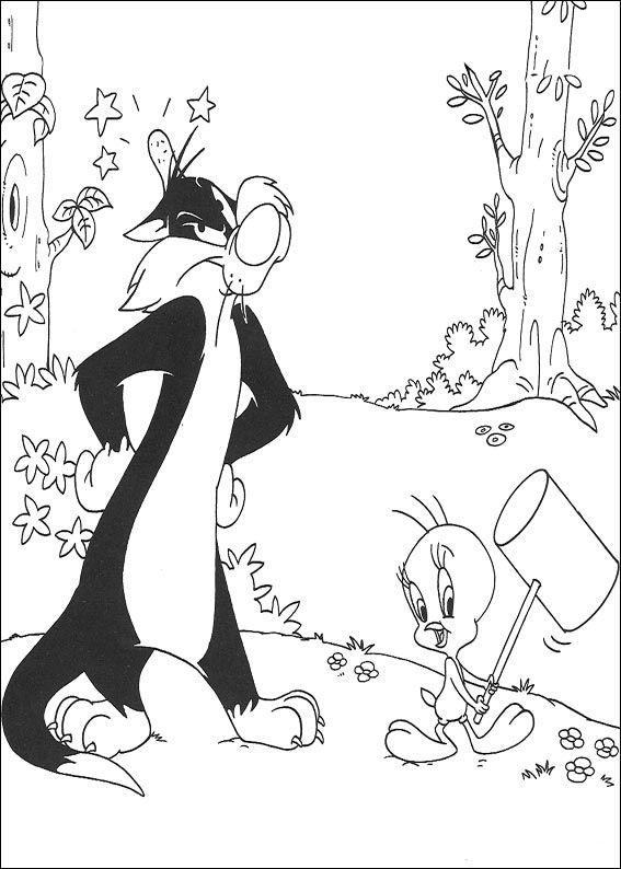 Sylvester Und Tweety 40 Ausmalbilder Fur Kinder Malvorlagen Zum Ausdrucken Und Ausmalen Sylvester Und Tweety Ausmalbilder Zum Ausdrucken Ausmalen