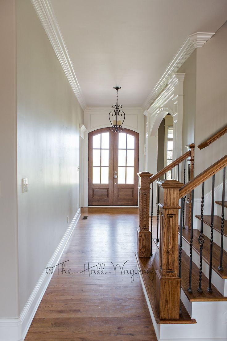 Foyer With Behr Sculptor Clay And Silky White Trim Revere