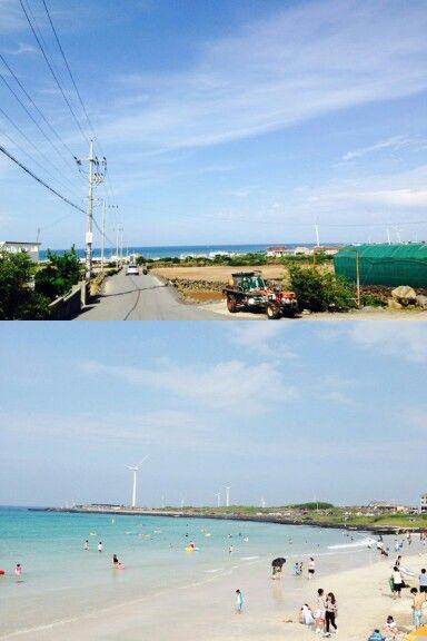 제주 월정리 해변