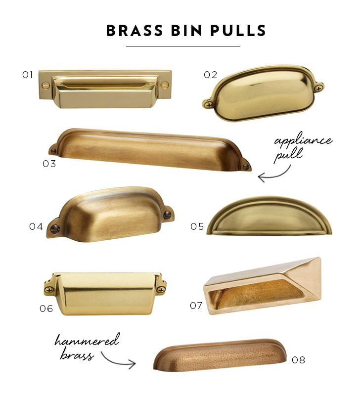 I love these brass pin pulls. Adds glam to any drawer.