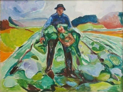 Edvard Munch: The Man in the Cabbage Patch , 1916. National Museum of Art, Architecture and Design , Oslo