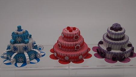 Made from Kokoru - Stripes  A cute cake....yummy.....