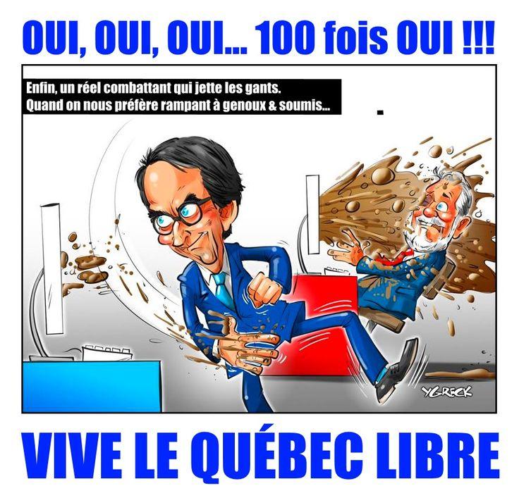 PKP EST UN CHEF DE GUERRE POLITIQUE Le Québec a son homme qui n'a peur de rien et rien à perdre.  Et c'est de ça dont on a d'abord besoin: quelqu'un capable d'affronter les méthodes sales et immorales de fédéralistes, et de les vaincre sur le terrain de l'économie. Un terrain sur lequel ils ont réussi, par la peur, à neutraliser les velléités indépendantistes des Québécois indépendantistes plus mous.