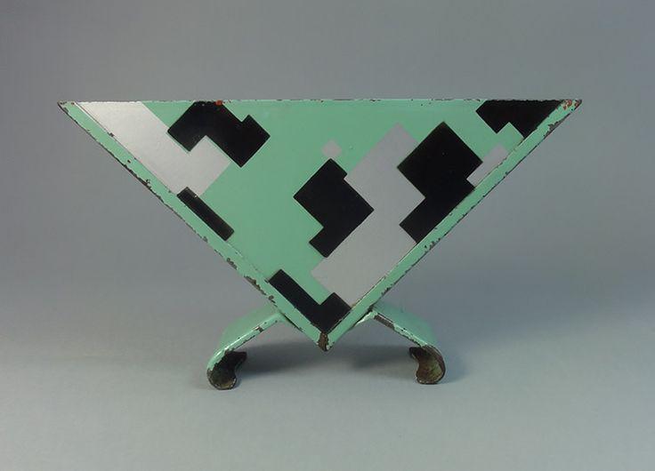 Marianne Brandt, Bauhaus napkin holder with geometric decoration 1929-1932