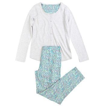 Long viscose and cotton pyjama