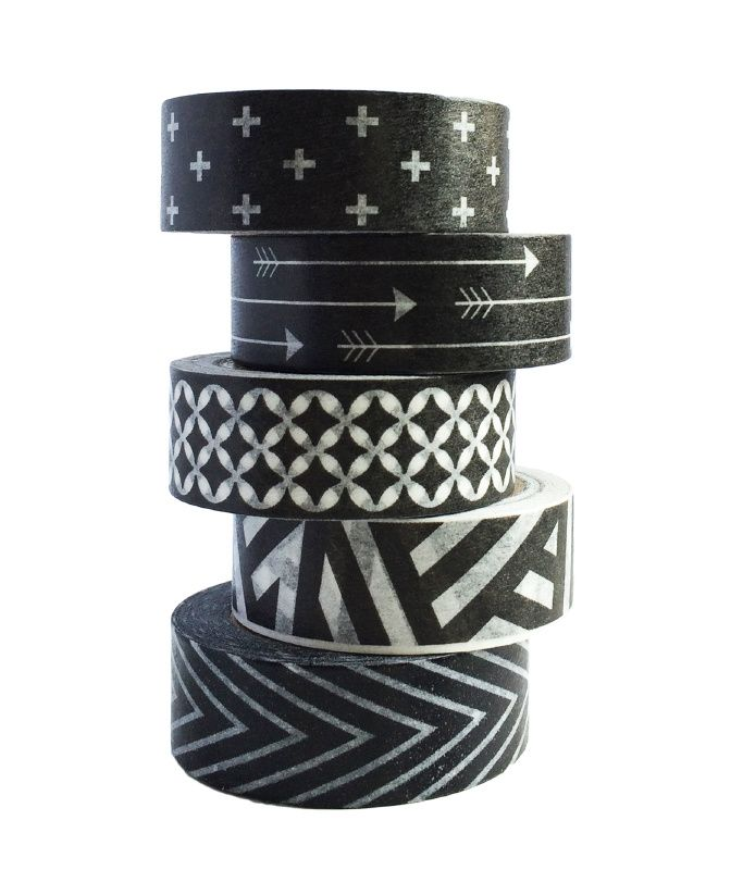 Masking tapes black and white