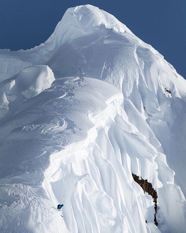 Dane Tudor finishing off a line in #Haines #Alaska. #skiing