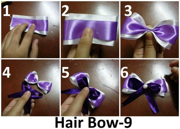 Satin Hair Bows (12 different patterns!)