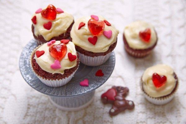 Шоколадные кексы на День святого Валентина