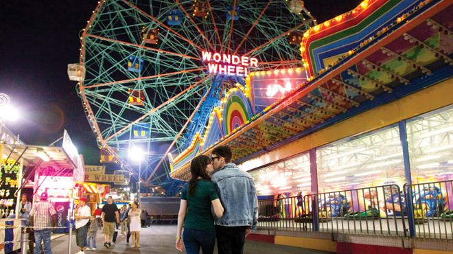 We love Time Out's suggestions for summer dates in New York City. Coney Island is a great place to start!