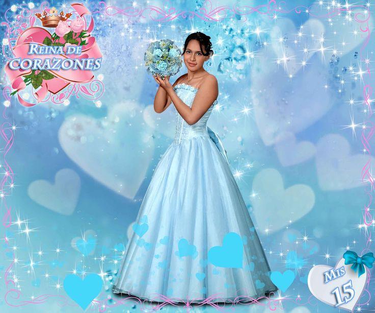 Fondo de fantasia con corazones en psd - Plantillas para Photoshop ...