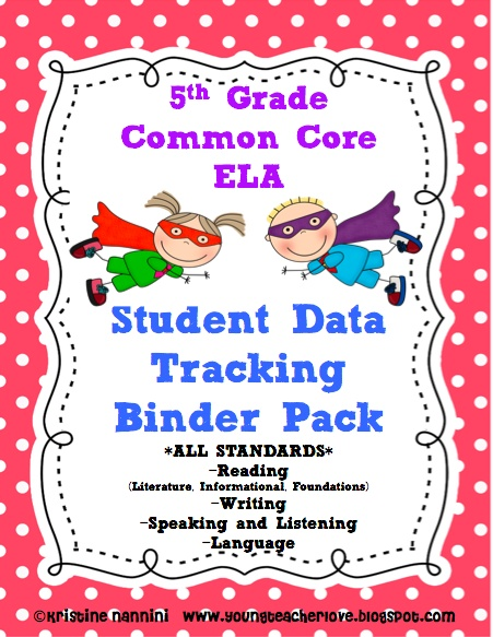 Track your student's literacy/ ELA with this: 5th Grade Common Core ELA {Student Data Tracking Binders} *ALL STANDARDS*. Reading, Writing, Speaking and Listening and Language. You will also receive my Formative Assessment Rubrics/Posters in a Superhero Theme! Check out my blog at www.youngteacherlove.blogspot.com for a step by step guide on how to set the binders up.: Tracking Binder, Student Data Tracking, Ela Student, 5Th Grade, Common Core, Teaching 5Th, Reading Writing, Language Arts, Student S Literacy