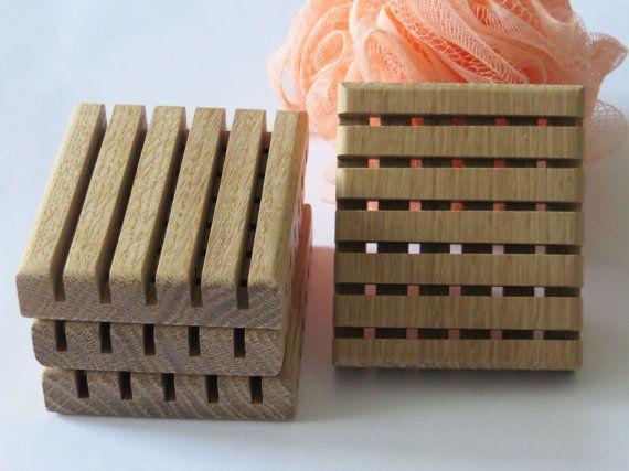Wood Soap Dish White Oak Premium  Quarter by OakHillWoodCreations