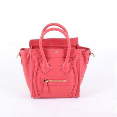 Celine Boston Smile Tote Handba 98168 red - CELINE handbags - Replica Handbags