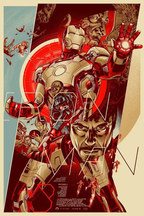 海外アーティストが描いた『アイアンマン3』のポスターが激カッコイイと話題 | ロケットニュース24