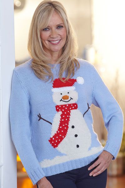 Christmas jumper with free downloadable pattern Yours Magazine The read o...