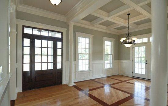 Coffered Ceiling and Wainscotting...