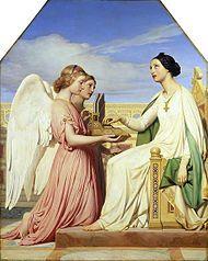 Sainte Cécile et les anges, 1836, Paul Delaroche.  Londres, musée Victoria et Albert