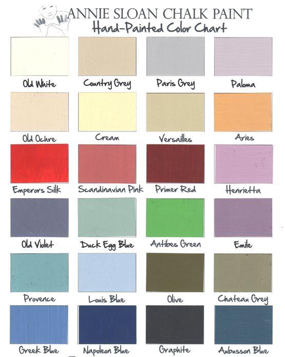 91 best Chalk paint color palettes images on Pinterest Paint