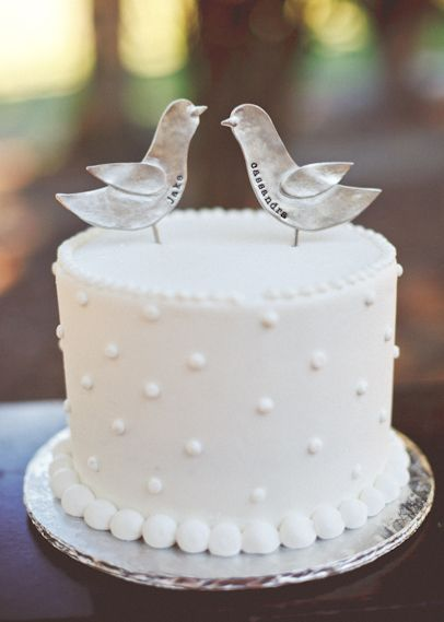 Attractive These Would Be Great On The Cheese Cake.plus, They Do Kind Of Look Like  Pigeons! Find This Pin And More On Single Layer Wedding ...