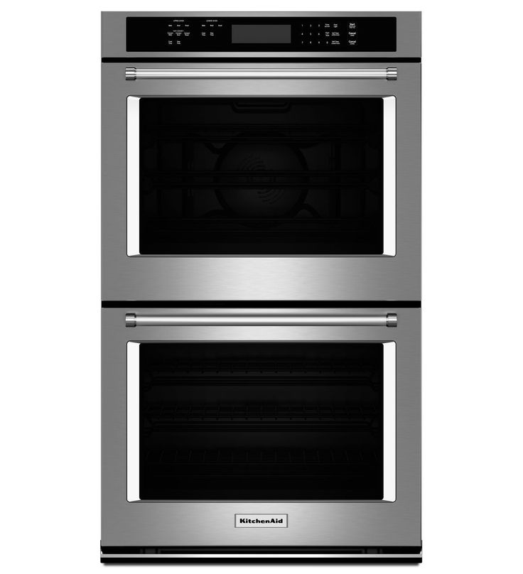 """KitchenAid® 30"""" Double Wall Oven with Even-Heat™ True Convection (Upper Oven)"""