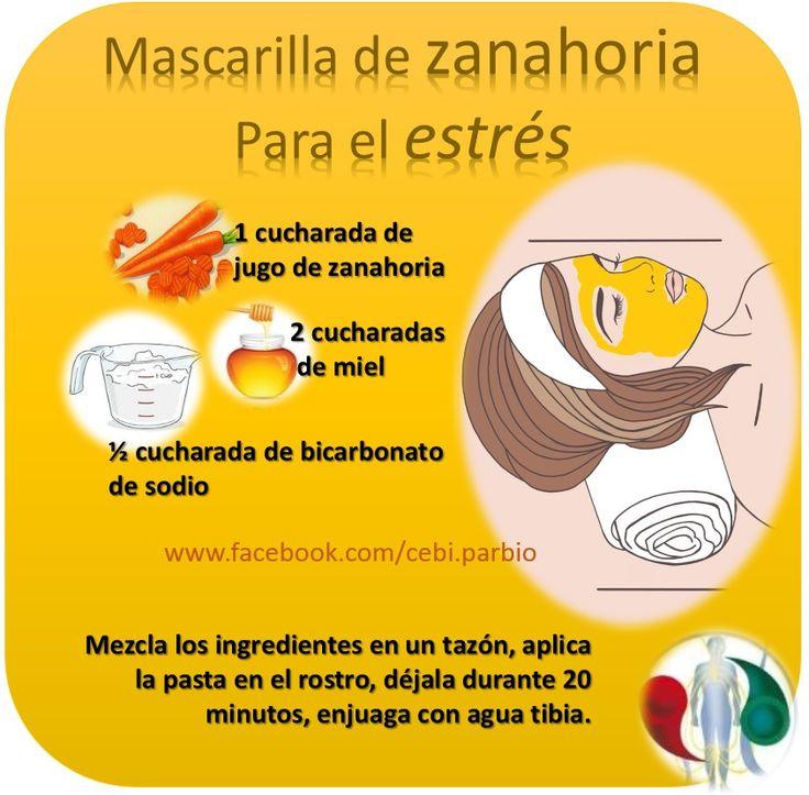 #MASCARILLAS #ZANAHORIA #TIPS #ESTRES #NATURAL #SALUD #BELLEZA