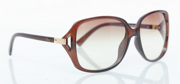 Солнечные очки Dior темно-карамельного цвета в фирменном чехле и упаковке #19170
